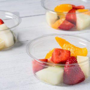 cut fresh fruit pots