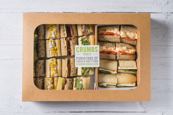 variety sandwich slices in a box