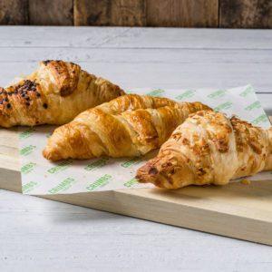 croissant platter bread in three