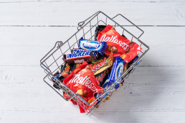 chocolates in a basket